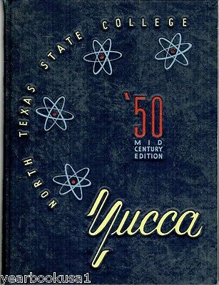 North Texas State College University Denton 1950 Yucca Yearbook Annual