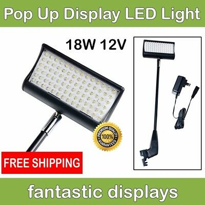 LED Light Spotlight for Fabric Pop Up Tradeshow Displays - BRIGHT 18W