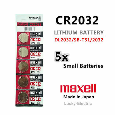 5pcs MAXELL CR2032 3v 220mah lithium Battery button cell/coin for calculator