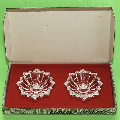 Vintage Cristal d'Arques Lead Crystal Candle Stick Holders France in Box As New