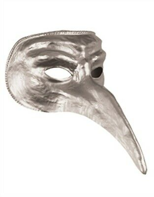 New Halloween Costume Unisex Long Nose Silver Venetian Carnival Mask