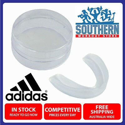 New ADIDAS Boxing Boil & Bite Single Gum Shield Martial Arts Clear Mouth Guard