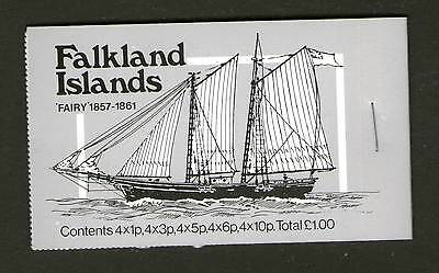 Falkland Islands Booklet 1978 Mail Ships 1 Pound Rh Attached