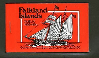 Falkland Islands Cto Booklet 1978 Mail Ships 1 Pound Lh Attached