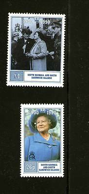 South Georgia 1990 Queen Mothers 90Th Birthday Set 2