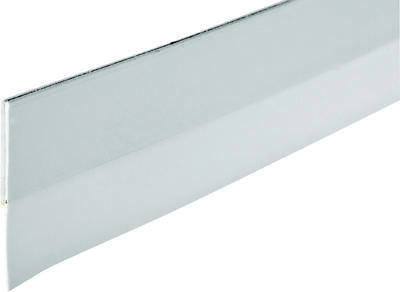 Frost King DS101WH Self-Stick Door Sweep, 36 in L x 1-1/4 in W, PVC, White