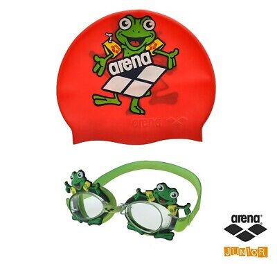 Arena - BUBBLE WORLD SET JR - OCCHIALINI+CUFFIA - art.  9229520-VERDEROSSO