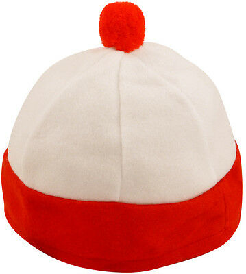 Child red and white bobble hat costume accessory Wally Waldo