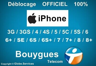 Déblocage Désimlockage Unlock IPHONE / IPAD BOUYGUES CLEAN ) - EXPRESS