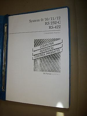 GE Fanuc Computer Numerical Control Manual- System 0/10/11/12 Rs 232-C, RS-422