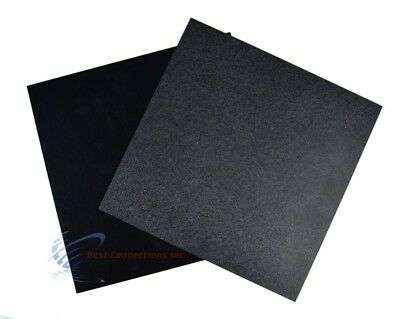 2 Black ABS Plastic Sheet 12 x 12 x 1/16 Flexible Smooth Back High Quality