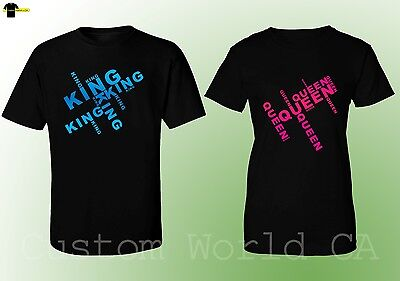 Couple Matching Love T-Shirts - King & Queen - His and Hers New Design T-Shirts