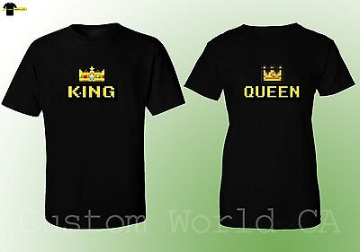 Couple Matching Love T-Shirts - NEW King & Queen - His and Hers New Design Tees