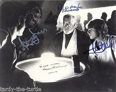Star Wars Cast #5  8 x 10 Autograph Reprint Mark Hamill Alec Guinness +2