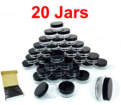 20 Packs 10 Gram/10ML High Quality Makeup Cream Cosmetic Sample Jar Containers