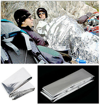 New 1X Waterproof Emergency Survival Rescue Space Foil Thermal First Aid Blanket