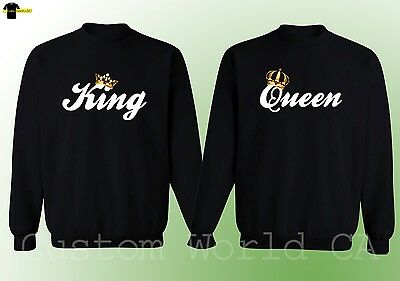 Couple Crewneck - King & Queen - His and Hers NEW Design Matching Sweatshirt