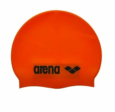 Arena - SILICONE JR SWIM CAP - CUFFIA BIMBO PISCINA - art.  9167020 ORANGE