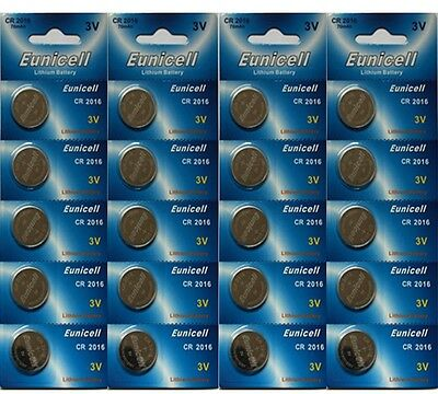 20 X Eunicell Cr2016 R2016 Dl2016 2016 3Lithium Button / Coin Cell Battery