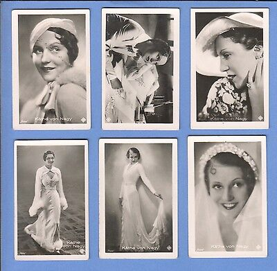 Collection of 10 0riginal vintage 1930's ROSS tobacco photo cards KATHE VON NAGY