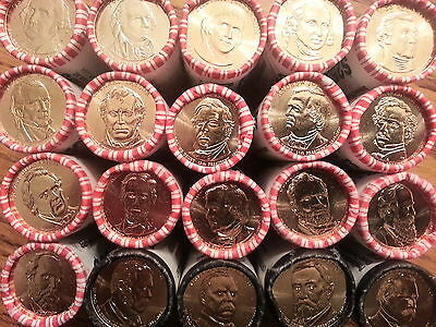 2012,2013,2014,2015 OR 2016 Sets of Presidential $1 From Rolls