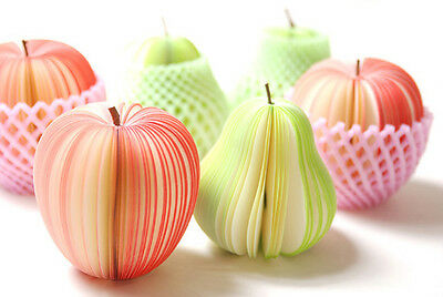 Fruit Vegetable Food Memo Pad Sticky Notes Sticker Marker Notepad 3D Cute Gift