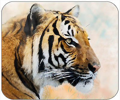 Mouse Pad Custom Personalized Thick Mousepad-Watercolor Tiger-Any Text Free