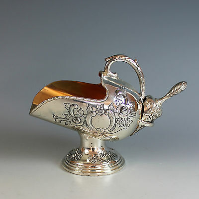 Antique Silver plate Sugar Scuttle Pot with Scoop
