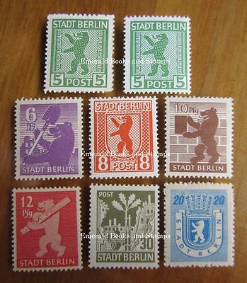 "EBS Germany 1945 Soviet Occupation ""Berlin Bear"" set Berliner Bär MNH**"