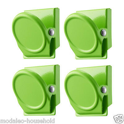 IKEA magnetic Clips OLEBY Magnet Set 4 Piece Green Color Fridge note magnet-B786