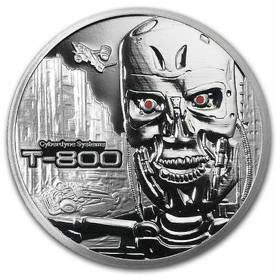 The Terminator Series T-800 High Relief 1 oz .999 Silver Proof Round USA Coin