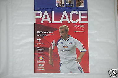 Crystal Palace v Leicester Programme 18th Aug 2007