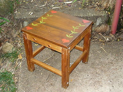Vintage Industrial Side Table w/ Detachable Serving Tray Top ~ Valentines