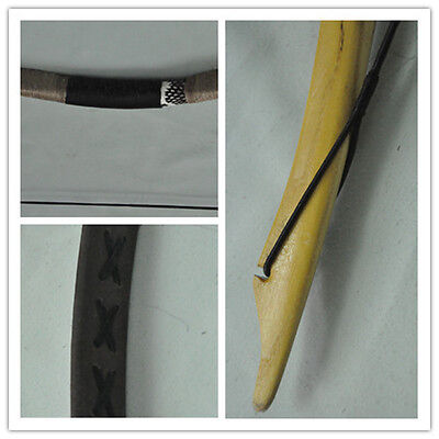 NEW brown Pigskin Hungarian Hunting Longbow Archery Recurve Bow 10-110lbs 04