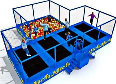 Inflatable Bounce House Foam Pit Ball Jump Obstacle Course Trampoline Commercial