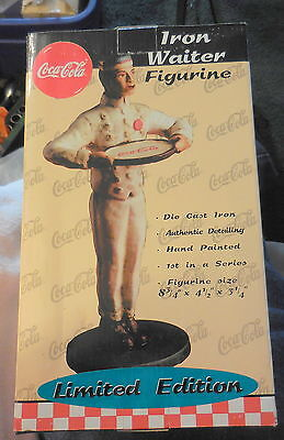 COCA COLA COKE DIE CAST IRON WAITER FIGURINE LIMITED ADDITION ,New in box