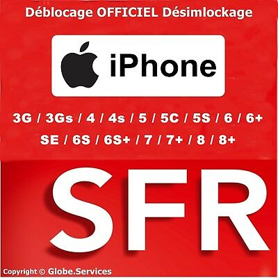 IPHONE CLEAN IMEI Unlock Code Deblocage SFR FRANCE INSTANT A 1H