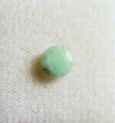 GOOD VINTAGE 5mm ROUND FACETED CUT NEPHRITE JADE CHINA