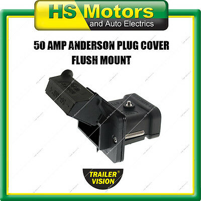 Anderson Plug Cover 50 Amp Flush Panel Mount External Mounting Bracket