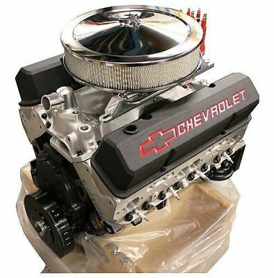 CHEVY SB 383ci DRESSED CRATE ENGINE GM12498772-AF ALLOY HEADS 420 hp/440 ft-lbs