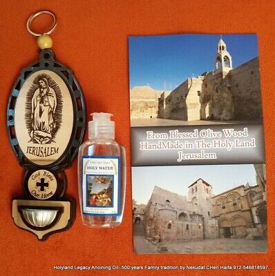 Holy water blessed from Jordan river 100ml ,3.38oz, Baptism site Israel