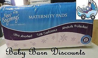 New Beginings - Maternity Pads- 12 Pack - Super Absorbent and ultra safe for ...