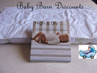 Sweet Dreams - High & Dry Cradle Mattress Protector with Waterproof Barrier -...