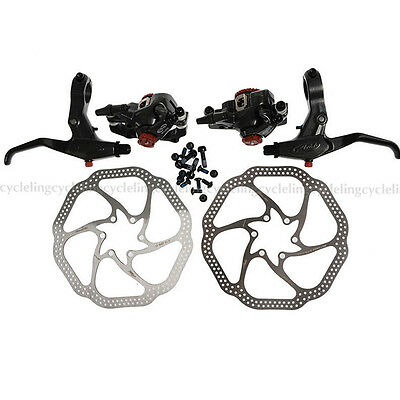 Avid BB7 Disc Brake Front and Rear Calipers 160mm HS1 Rotors And Brake Levers