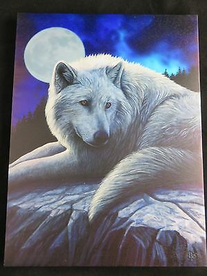 "Anne Stokes ""Guardian of the North"" Large 40x30cm Wolf Canvas Wall Art"