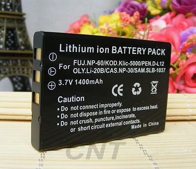 Digital Camera Battery for TOSHIBA CAMILEO S10 H20 P10 P30 H10 NP-60 PDR-BT3