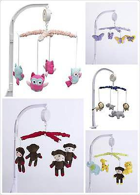 Baby Cot Crib Bed Nursery Music Mobile 5 Designs Available Gifts --New USA Brand
