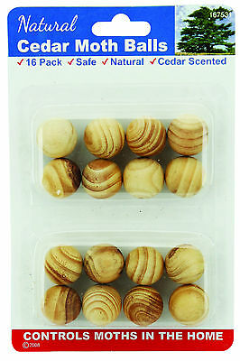 48 Pieces of Natural Cedar Moth Balls For Wardrobe Drawer Protection 167531