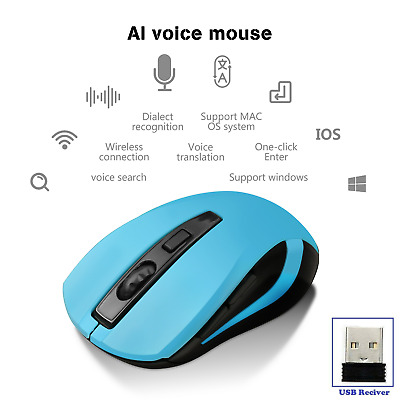 2.4GHz Wireless Mute Rechargeable Mouse LED Backlit 1800DPI Optical Gaming Mice