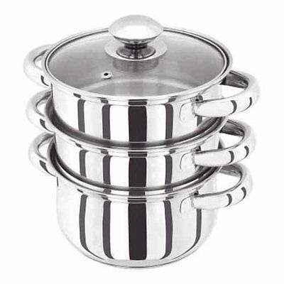 Judge 3 Tier Vegetable Steamer With Lid 16cm Induction Casserole Dishwasher